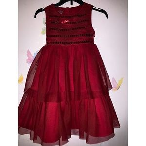 Toddlers red dress